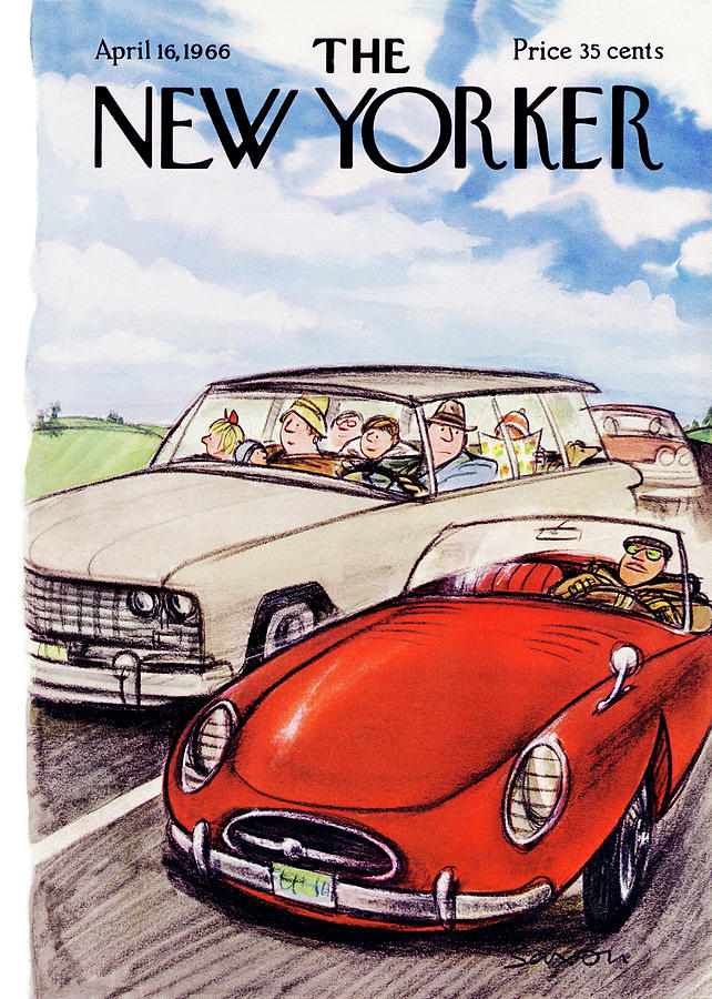 New Yorker April 16th, 1966 Painting by Charles Saxon