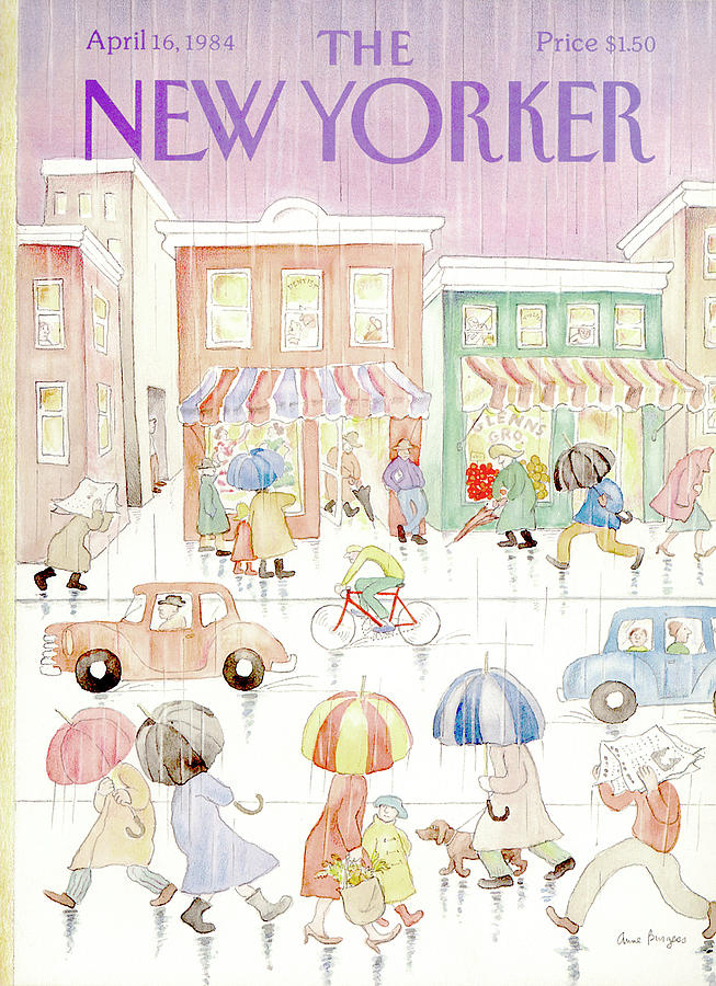 New Yorker April 16th, 1984 Painting by Anne Burgess