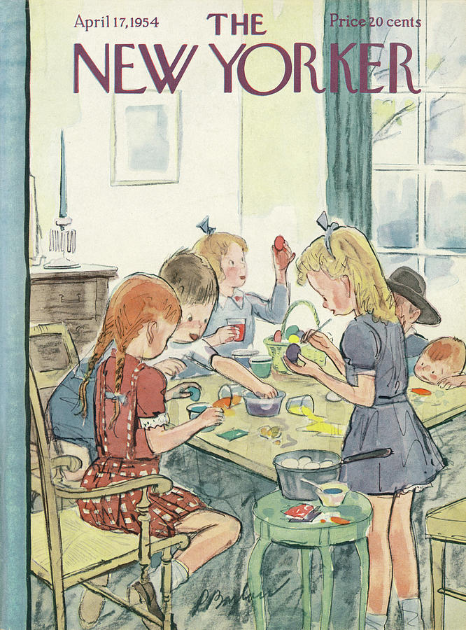 New Yorker April 17th, 1954 Painting by Perry Barlow