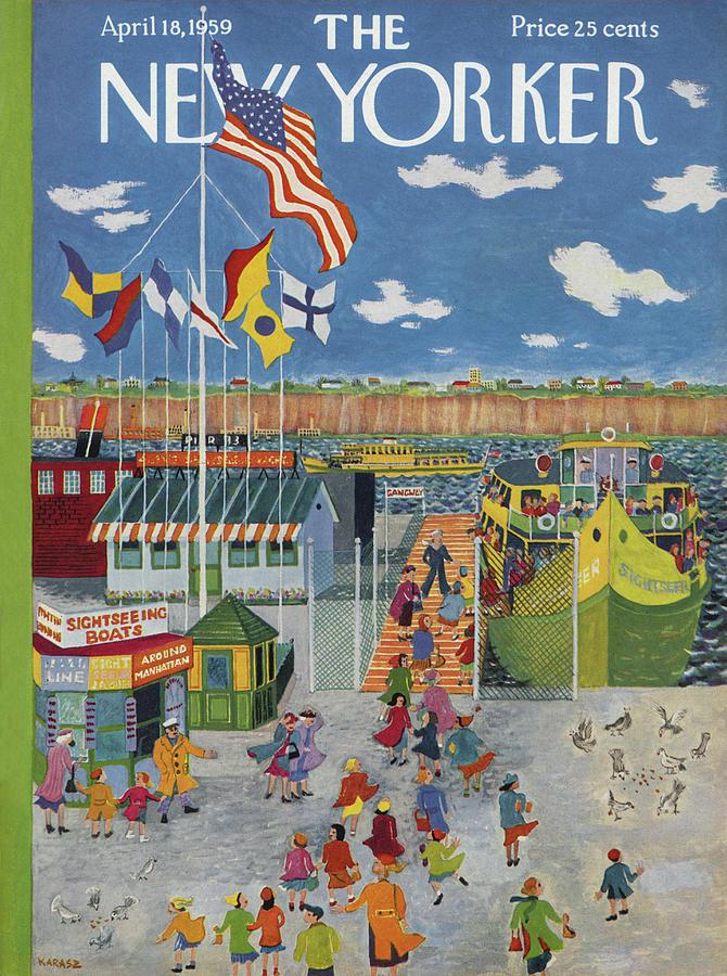 New Yorker April 18th, 1959 Painting by Ilonka Karasz