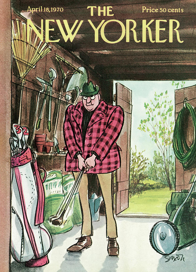 New Yorker April 18th, 1970 Painting by Charles Saxon