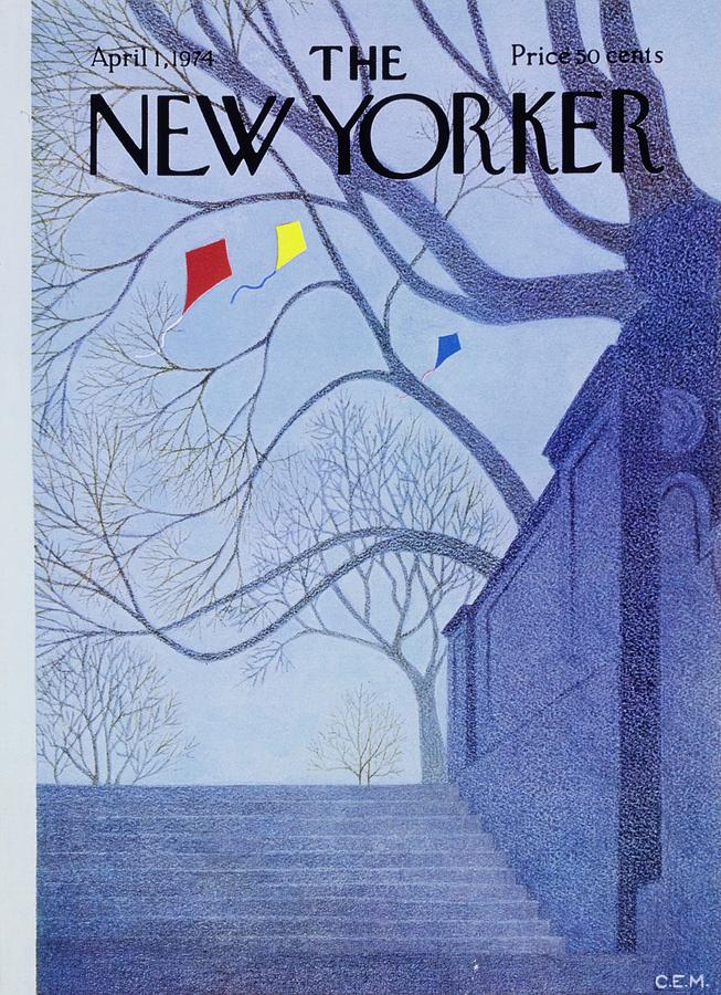 New Yorker April 1st 1974 Painting by Charles Martin