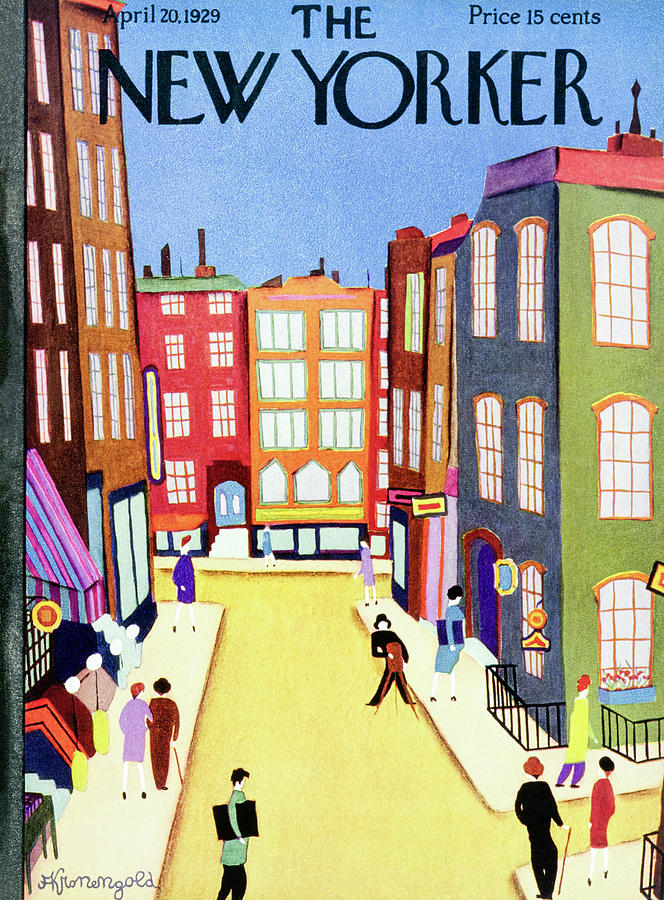New Yorker April 20 1929 Painting by Arthur K. Kronengold