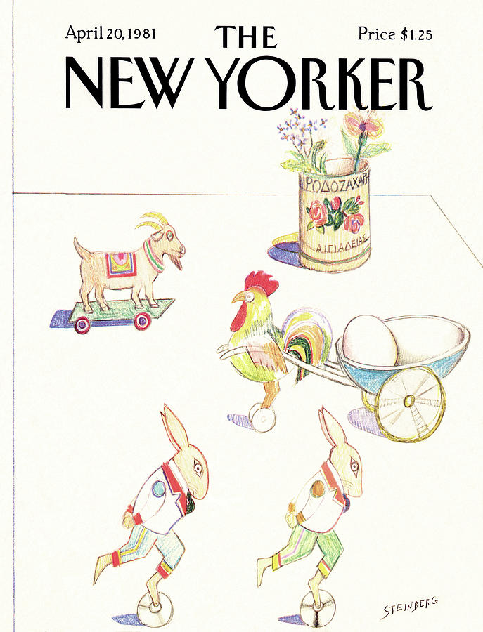 New Yorker April 20th, 1981 Painting by Saul Steinberg