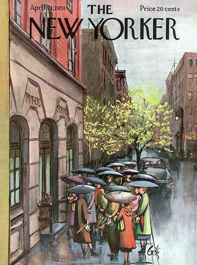 New Yorker April 21st, 1951 Painting by Arthur Getz