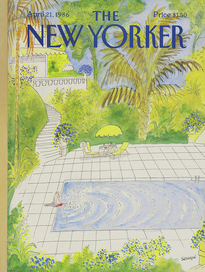 New Yorker April 21st, 1986 Painting by Jean-Jacques Sempe