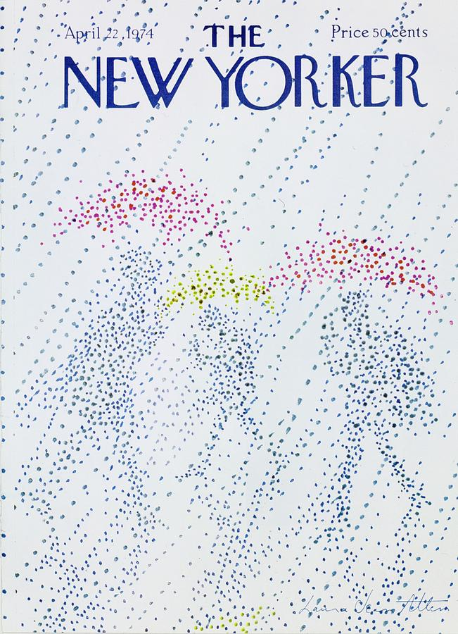 New Yorker April 22nd 1974 Painting by Laura Jean Allen