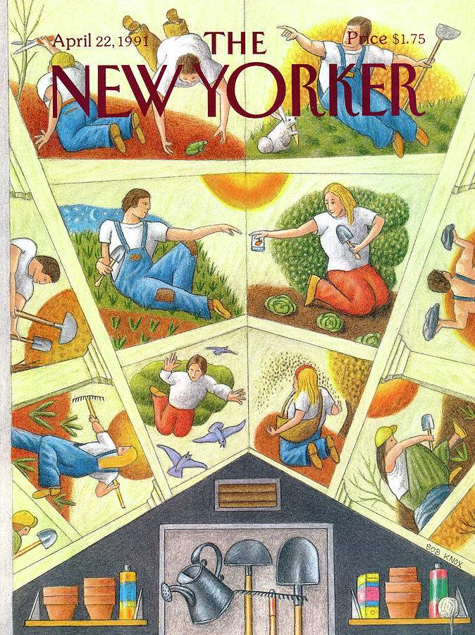 New Yorker April 22nd, 1991 Painting by Bob Knox