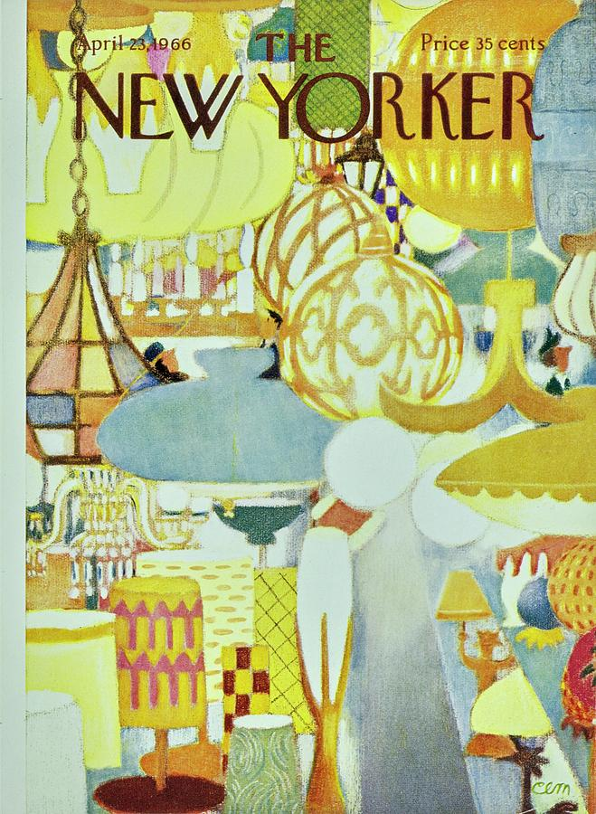 New Yorker April 23rd 1966 Painting by Charles E Martin