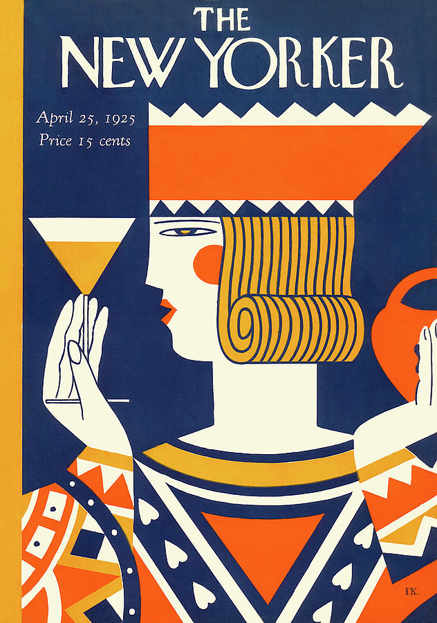 New Yorker April 25th, 1925 Painting by Ilonka Karasz