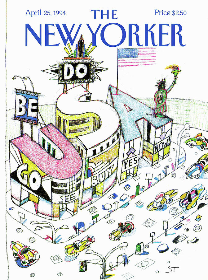 New Yorker April 25th, 1994 Painting by Saul Steinberg