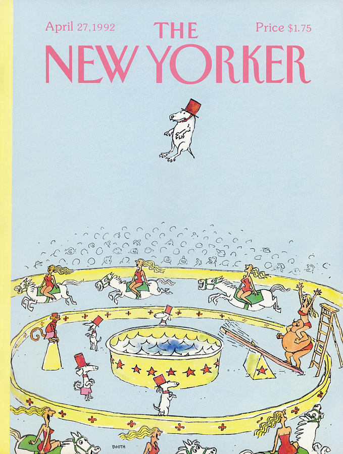 New Yorker April 27th, 1992 Painting by George Booth
