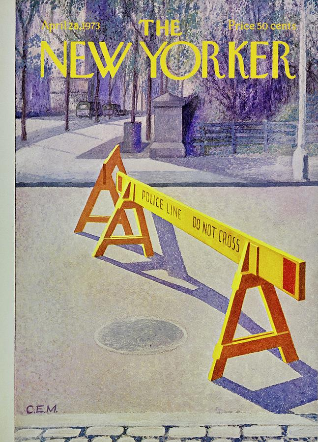 New Yorker April 28th 1973 Painting by Charles Martin