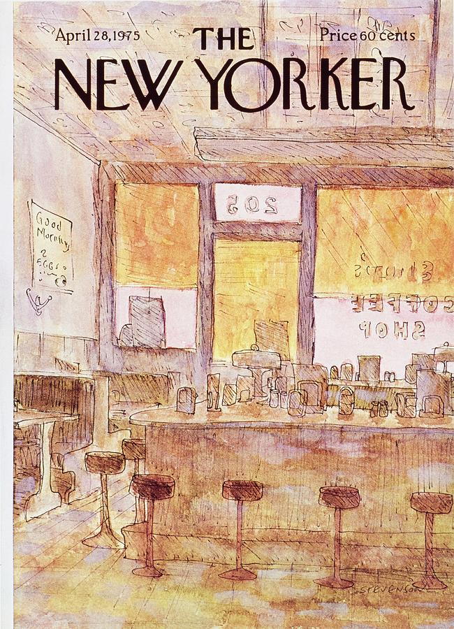 New Yorker April 28th 1975 Painting by James Stevenson