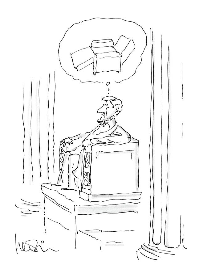 Monuments Drawing - New Yorker April 28th, 1986 by Arnie Levin