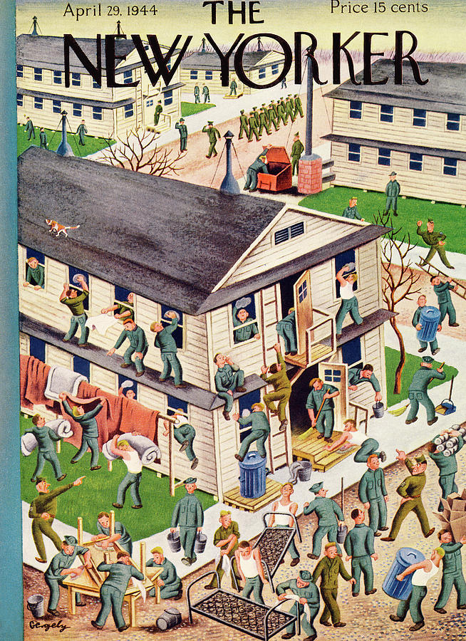 New Yorker April 29, 1944 Painting by Tibor Gergely