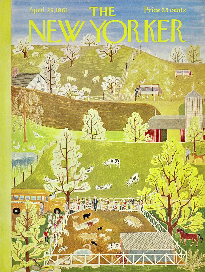 New Yorker April 29th 1961 Painting by Ilonka Karasz