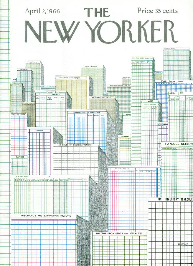 New Yorker April 2nd, 1966 Painting by Anatol Kovarsky