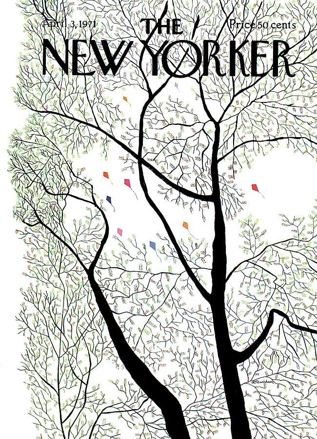 New Yorker April 3rd, 1971 Painting by Raymond Davidson