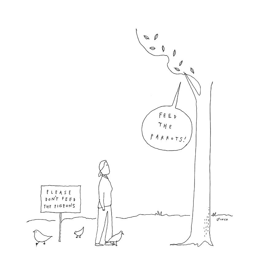 New Yorker April 3rd, 2017 Drawing by Liana Finck
