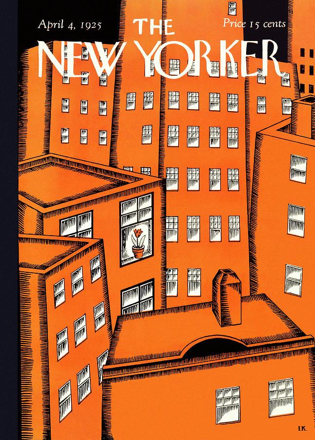 New Yorker April 4 1925 Painting by Ilonka Karasz