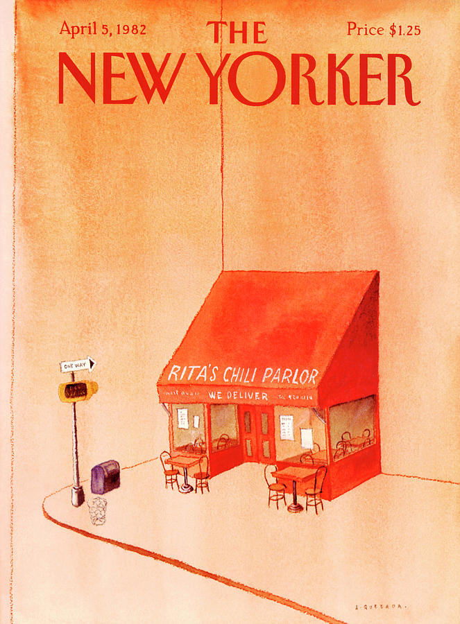 New Yorker April 5th, 1982 Painting by Abel Quezada