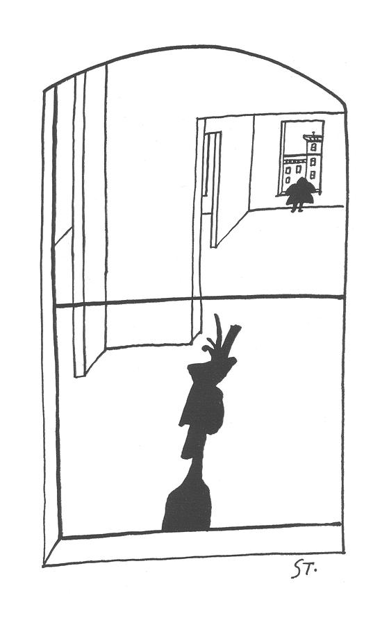New Yorker April 6th, 1957 Drawing by Saul Steinberg