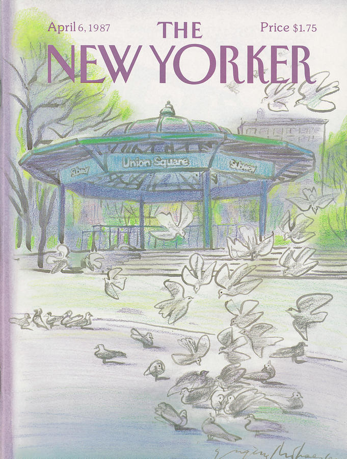 New Yorker April 6th, 1987 Painting by Eugene Mihaesco