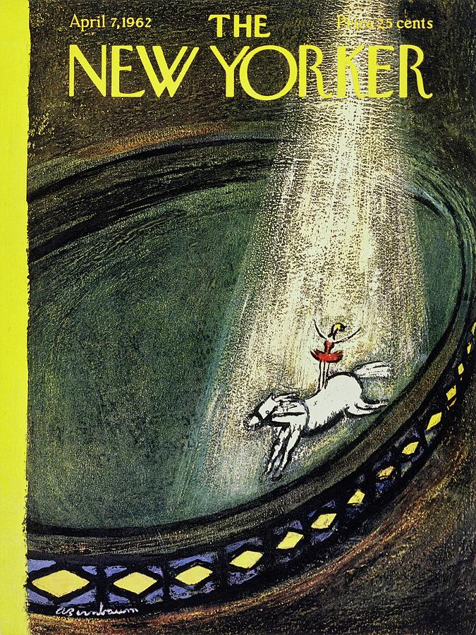 New Yorker April 7th 1962 Painting by Aaron Birnbaum