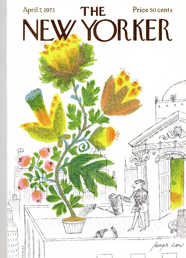 New Yorker April 7th, 1973 Painting by Joseph Low