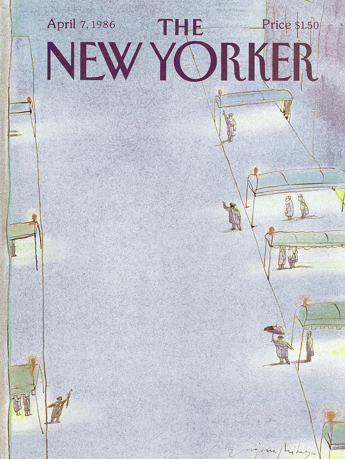 New Yorker April 7th, 1986 Painting by Eugene Mihaesco