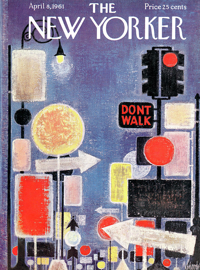 New Yorker April 8th, 1961 Painting by Kenneth Mahood