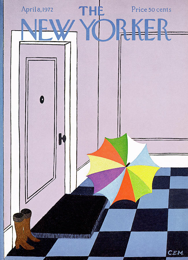 New Yorker April 8th, 1972 Painting by Charles E Martin