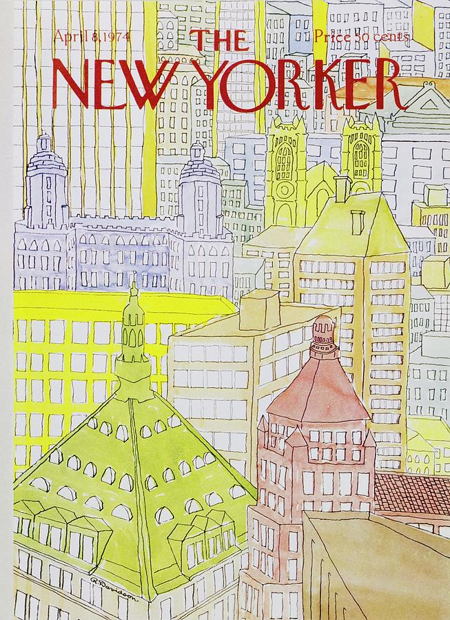 New Yorker April 8th 1974 Painting by Raymond Davidson