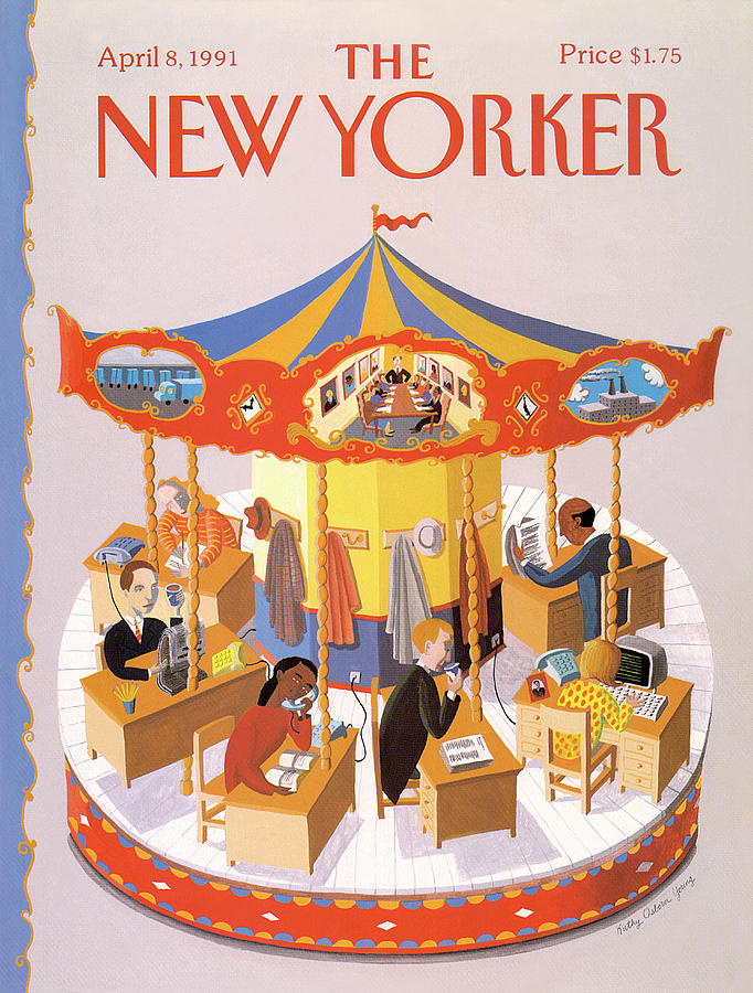 New Yorker April 8th, 1991 Painting by Kathy Osborn