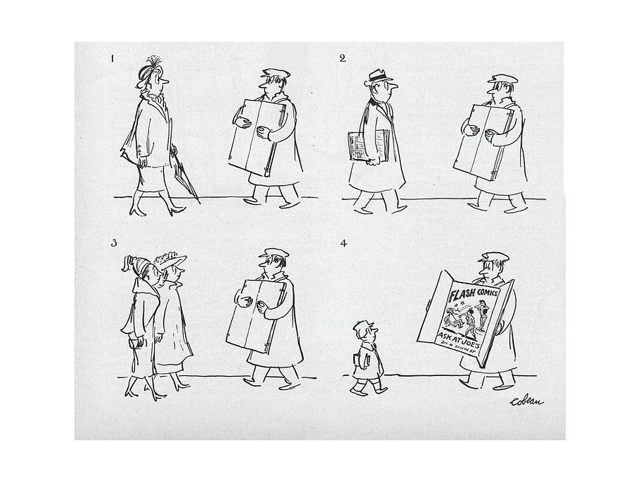 New Yorker April 9th, 1949 Drawing by Sam Cobean