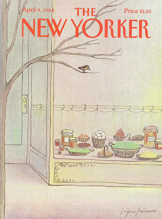 New Yorker April 9th, 1984 Painting by Eugene Mihaesco