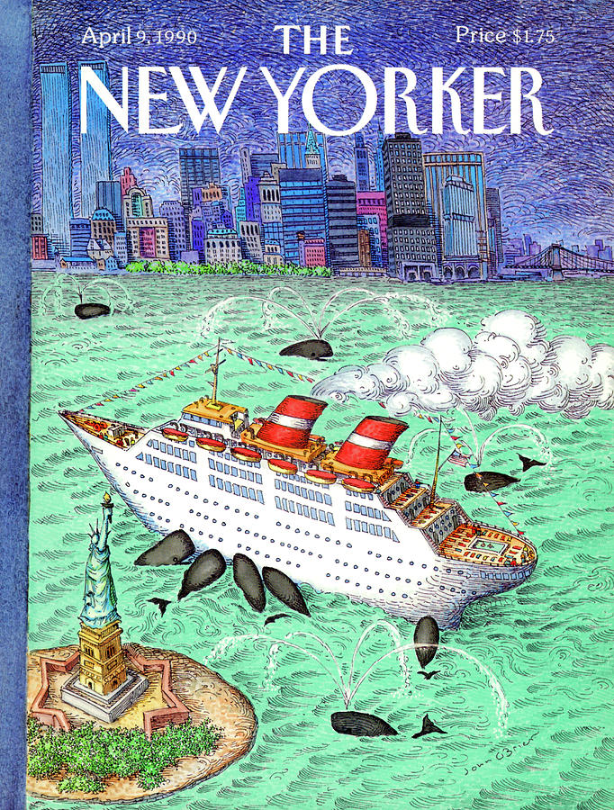 New Yorker April 9th, 1990 Painting by John OBrien