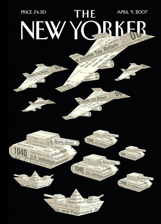 New Yorker April 9th, 2007 Painting by Christoph Niemann