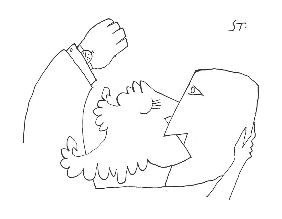 New Yorker August 10th, 1957 Drawing by Saul Steinberg
