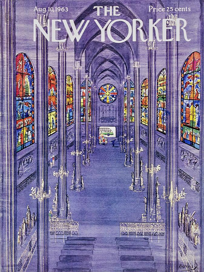New Yorker August 10th 1963 Painting by Anatole Kovarsky
