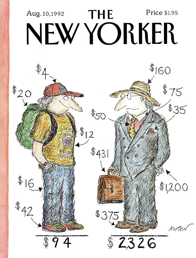 New Yorker August 10th, 1992 Painting by Edward Koren