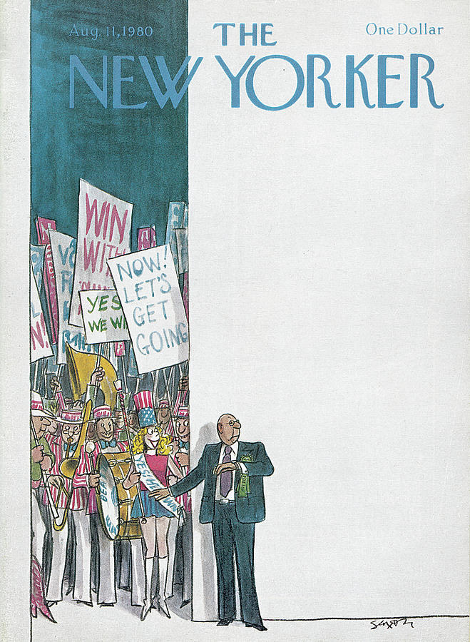 New Yorker August 11th, 1980 Painting by Charles Saxon