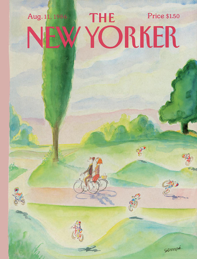 New Yorker August 11th, 1986 Painting by Jean-Jacques Sempe