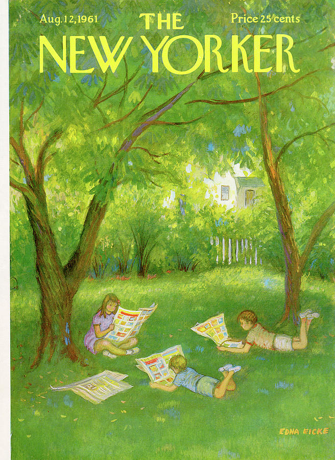 New Yorker August 12th, 1961 Painting by Edna Eicke