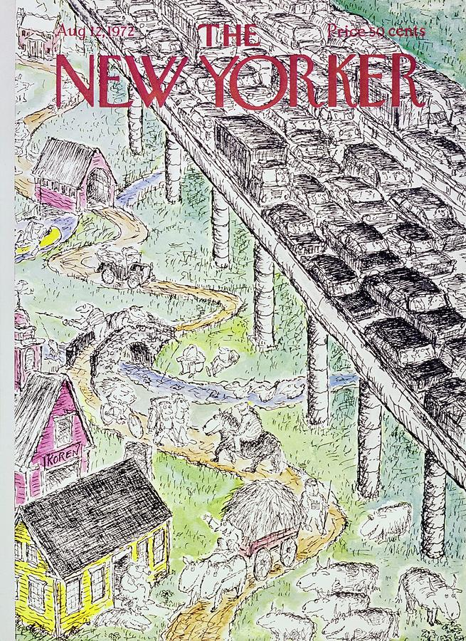 New Yorker August 12th 1972 Painting by Edward Koren