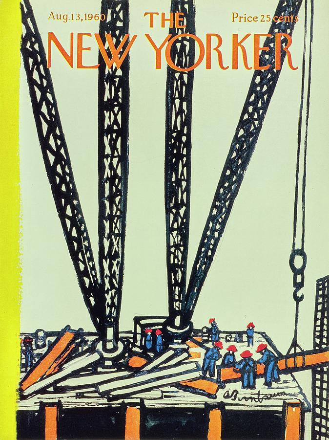 New Yorker August 13th 1960 Painting by Aaron Birnbaum