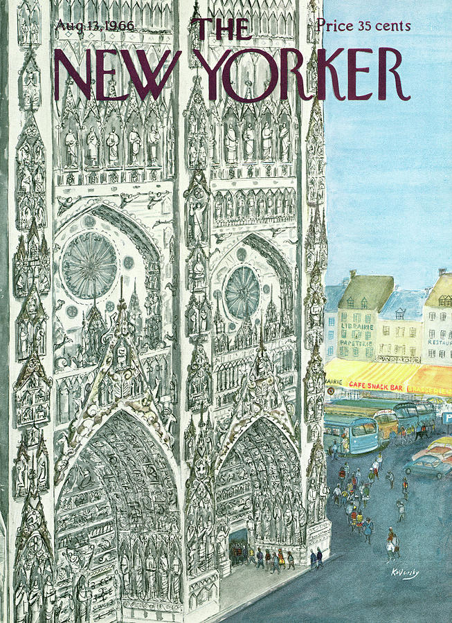 New Yorker August 13th, 1966 Painting by Anatol Kovarsky