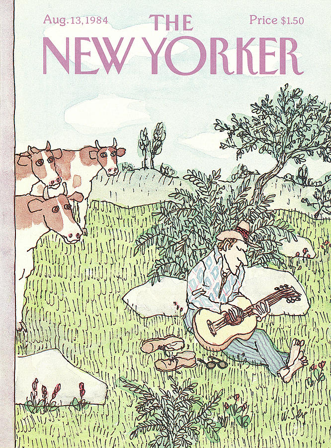 New Yorker August 13th, 1984 Painting by William Steig