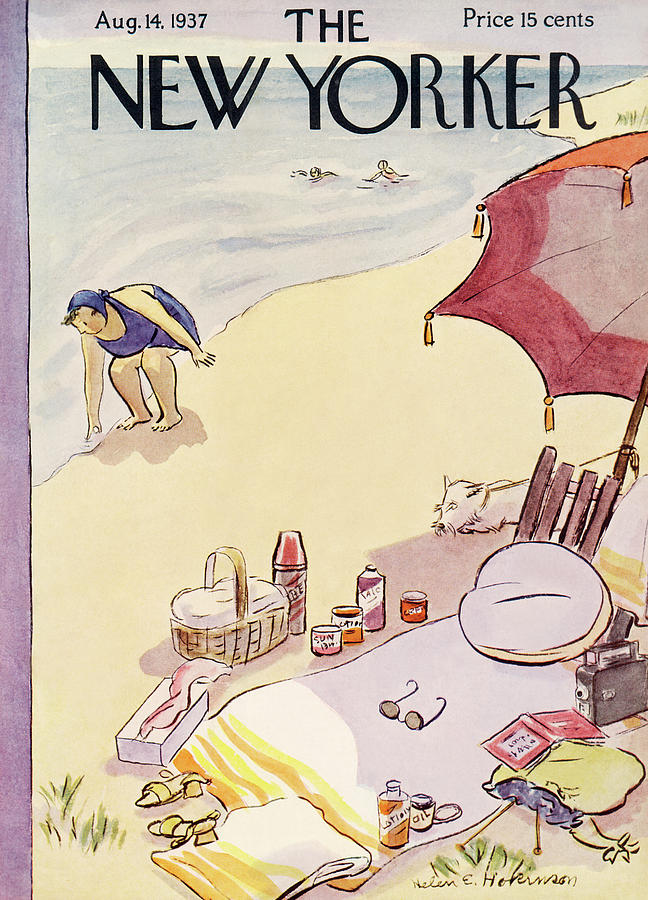 New Yorker August 14, 1937 Painting by Helen E Hokinson